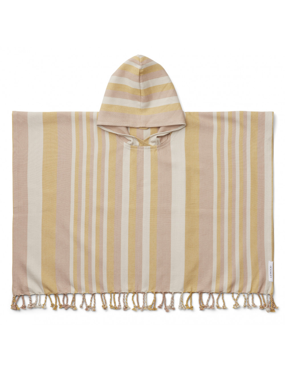 Roomie Poncho | stripe peach/sandy/yellow mellow