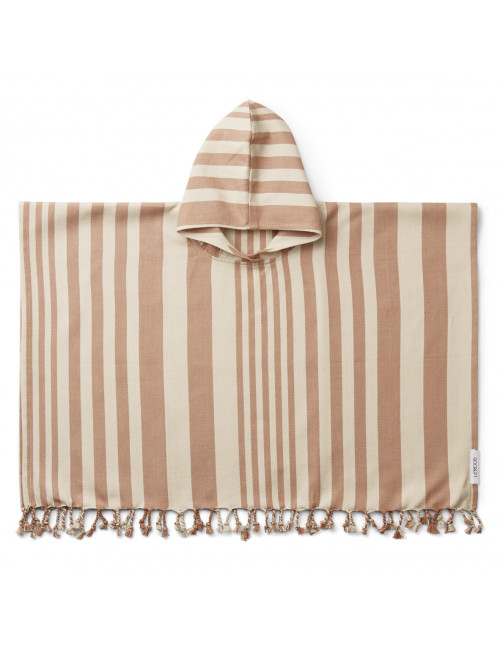 Roomie Poncho | stripe tuscany rose/sandy