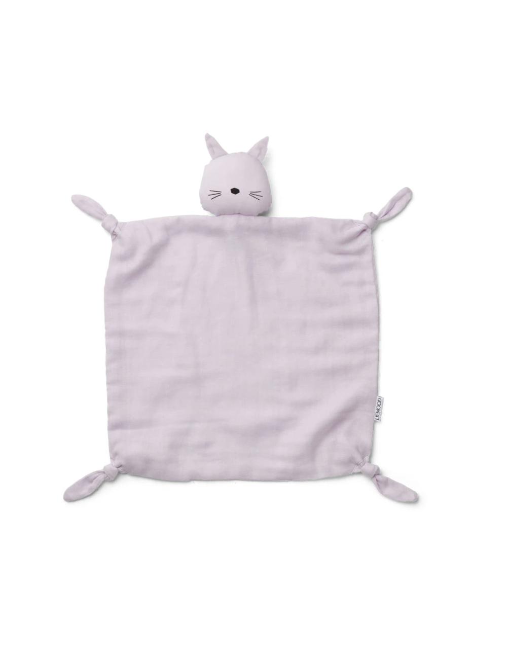 Knuffeldoekje Agnete | kat lavendel