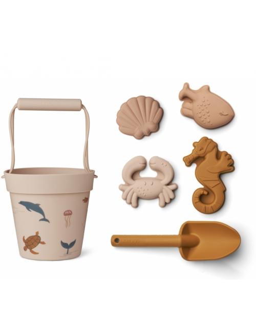 Dante Beach Set | zeedieren rose multi mix