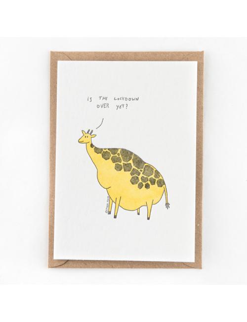Wenskaart | lockdown giraf