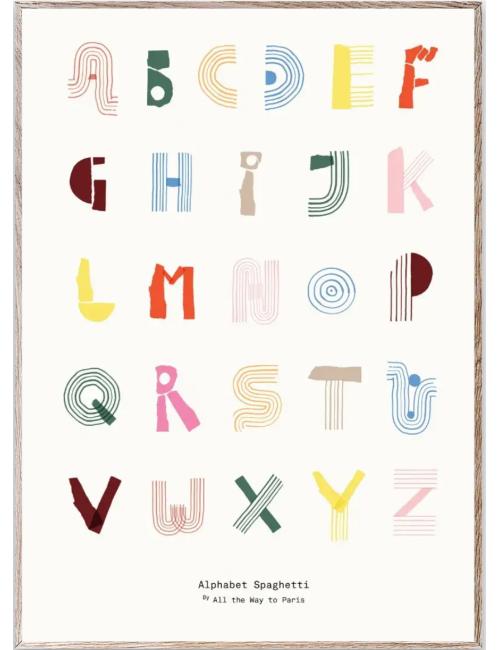 Poster Alphabet Spaghetti | 50x70cm