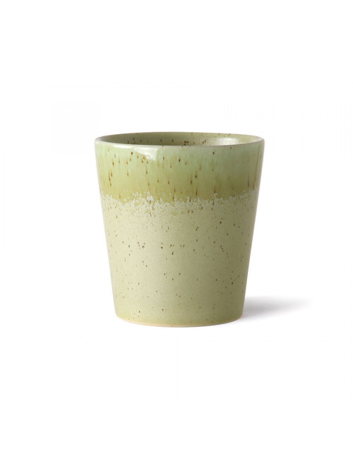 Ceramic 70's Koffiebeker | pistachio