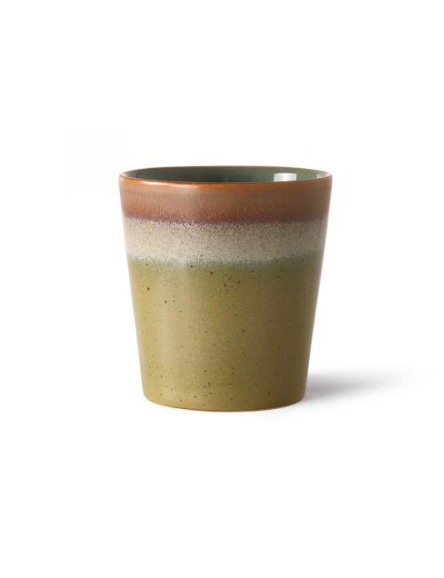 Ceramic 70's Koffiebeker | peat