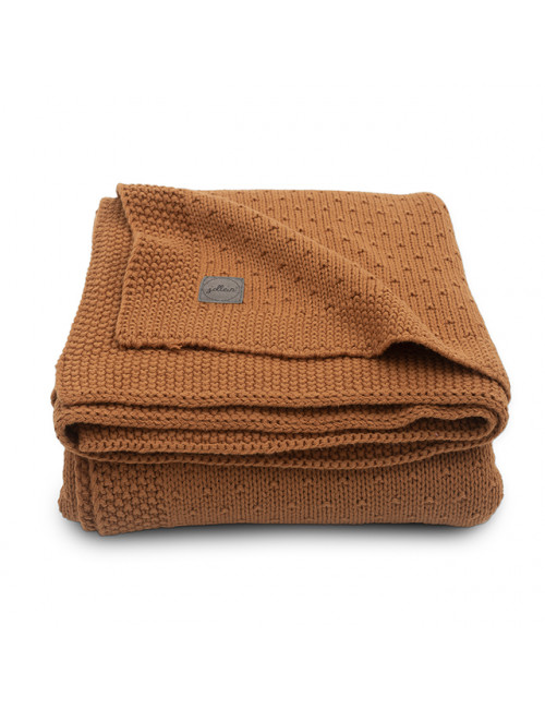 Dekentje 100x150cm | bliss knit/caramel