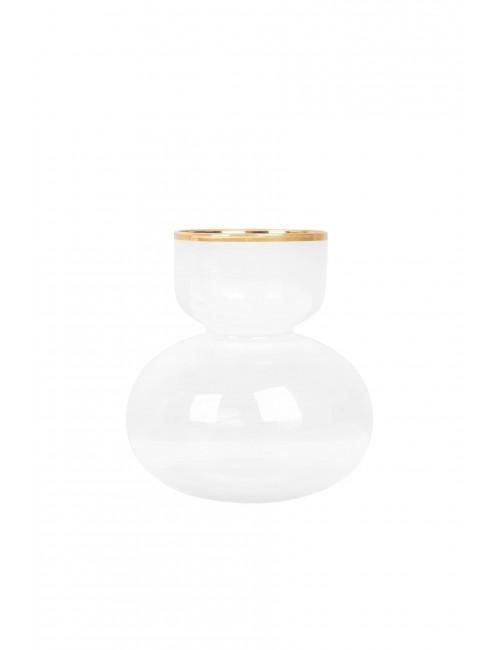 Glazen Vaasje met Goud | 9x6x15cm