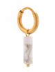 Oorbel Large Marble Hoop | goud