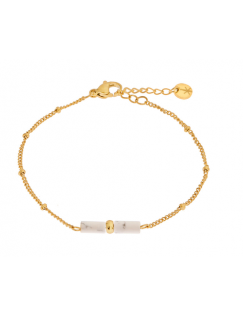 Armbandje Marble | goud