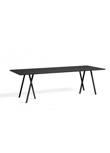 Tafel Loop Stand | zwart linoleum