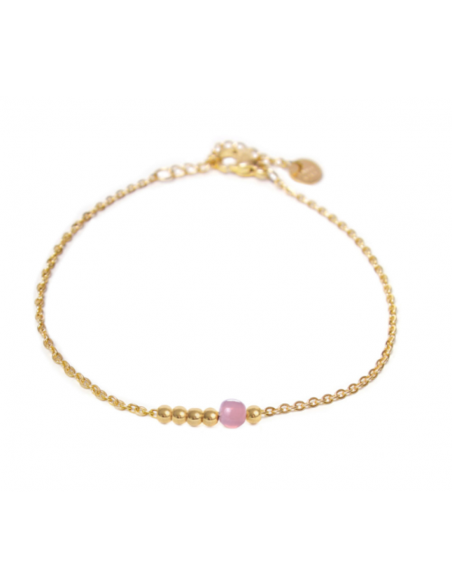 Armbandje Lilac Dot | goud