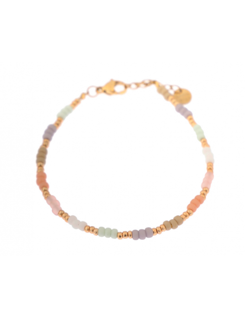 Armbandje Pastel Rainbow | goud