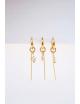 Oorbel Chain Marble | goud