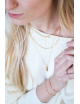 Korte Halsketting Plain Chain | goud