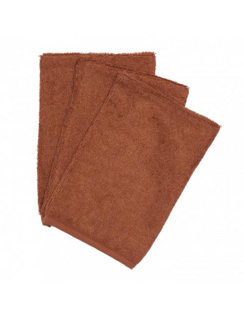 Washandjes (set van 3) | hazel brown