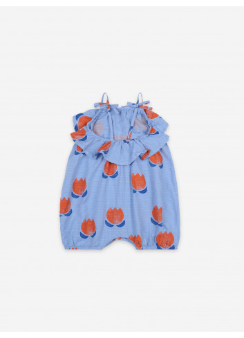 Onesie Chocolate Flowers All Over Woven Romper