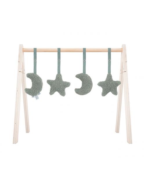 Babygym Speeltjes (4 stuks) | maan/groen