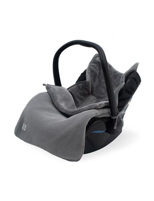 Voetenzak | basic knit/stone grey