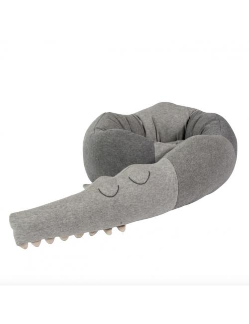 Kussen Sleepy Croc | grijs