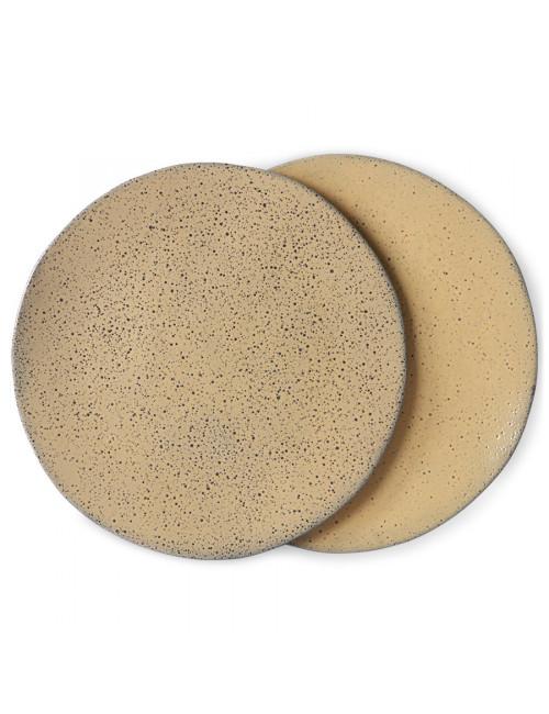 Dinner Plate Gradient Ceramics (set van 2) | peach