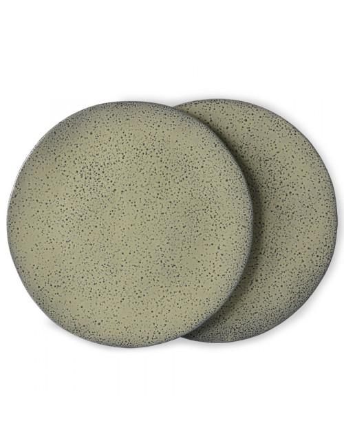 Dinner Plate Gradient Ceramics (set van 2) | green