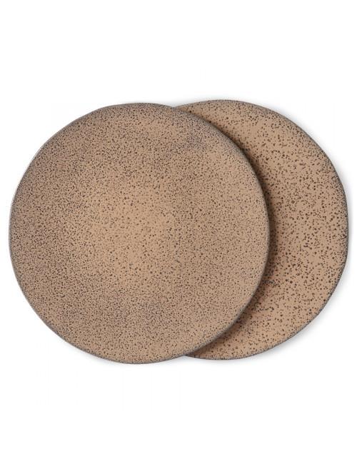 Dinner Plate Gradient Ceramics (set van 2) | taupe