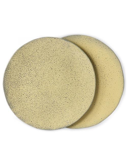Dinner Plate Gradient Ceramics (set van 2) | yellow