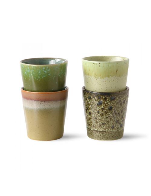 70's Ceramics Koffiebekers (set van 4)