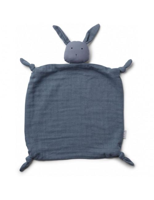Knuffeldoekje Agnete   konijn blue wave