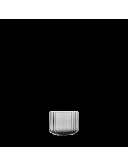 Glazen theelichthouder 6.7cm | smoke