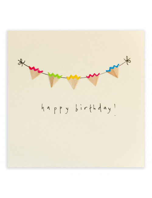 Wenskaart | happy birthday/bunting