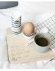 Houten ontbijtplankje  | lieve papa, trots
