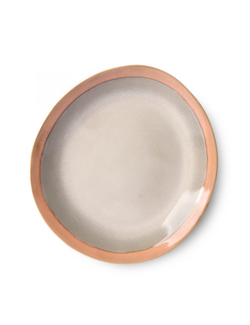 70's Ceramics Plat Bord 22cm | earth