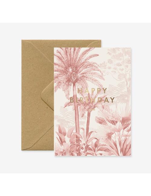 Wenskaart | Happy Birthday Pink Forest