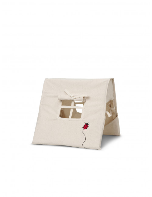 Mini Tent Ladybird Embroidery | natural
