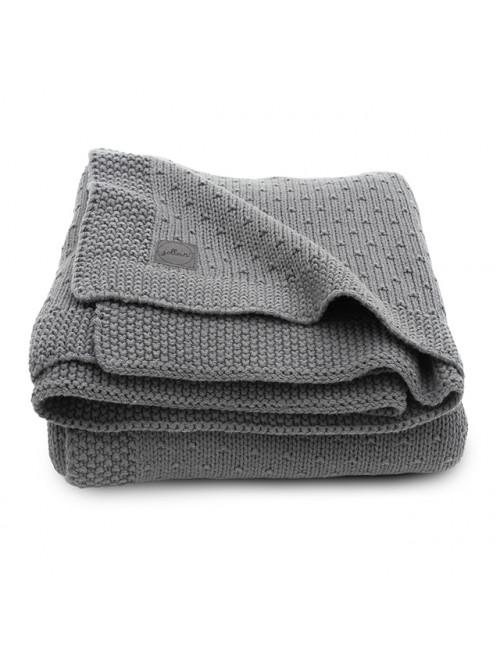 Dekentje 75x100cm | bliss knit/storm grey