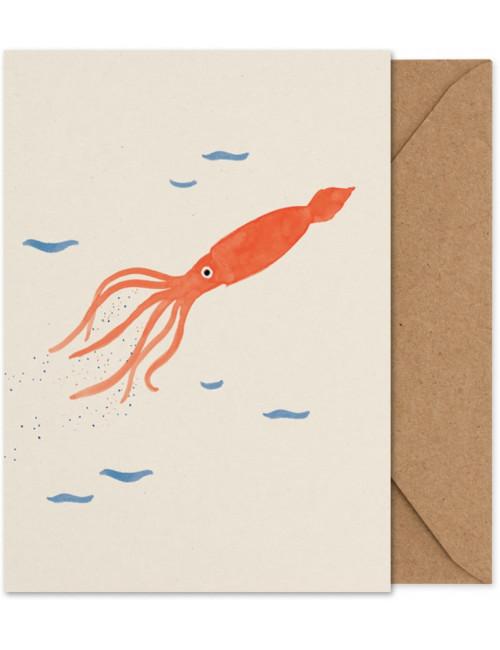 Folded Art Card A5 | sid the squid