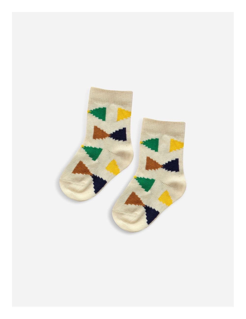 Ecru Geometric Baby Sokjes