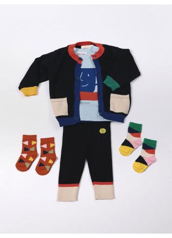 Multi Color Block Baby Socks