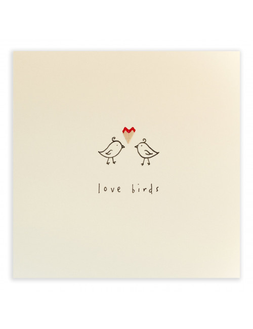 Wenskaart | love birds