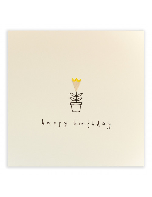 Wenskaart | happy birthday/bloem