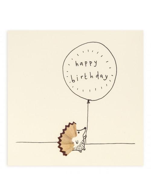 Wenskaart | happy birthday/egel