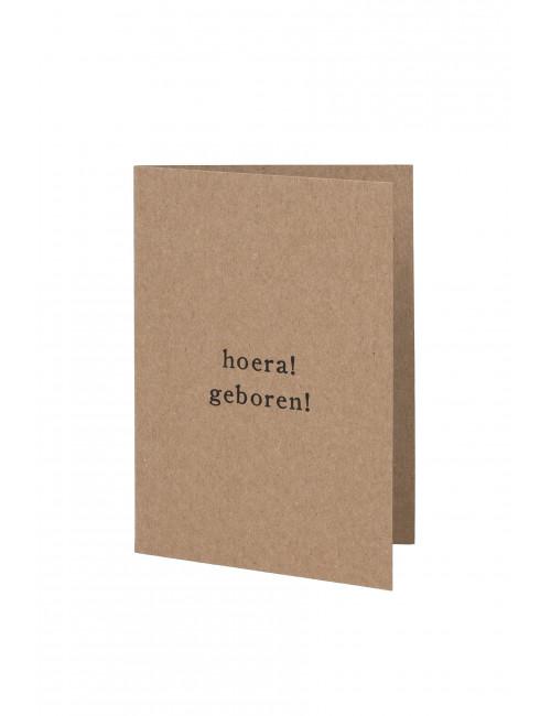 Wenskaart | hoera geboren
