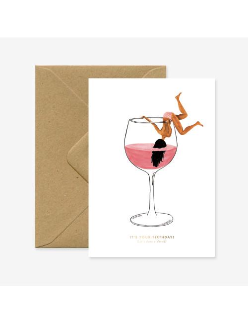 Wenskaart | just a drink