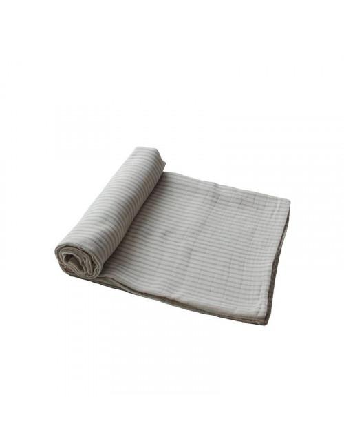 Hydrofiele doek (120x120cm) | sage stripes