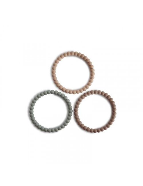 Silliconen Armbandje (set van 3)   cl. sage, tuscany, desert