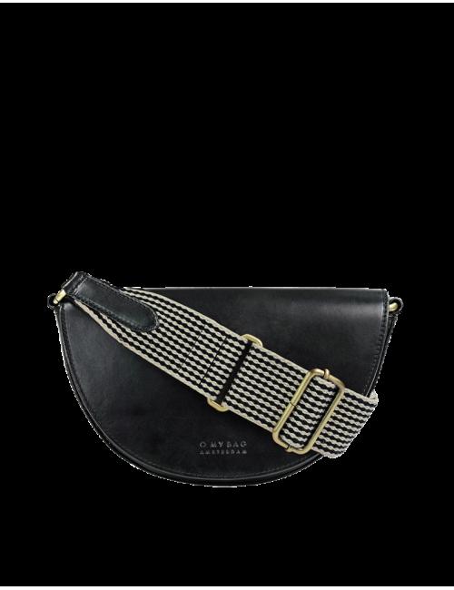 Heuptasje Laura | zwart checkered classic leather