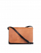 Handtas Audrey | zwart & cognac classic leather