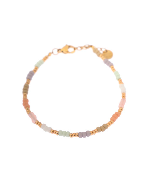 Enkelbandje Pastel Rainbow | goud