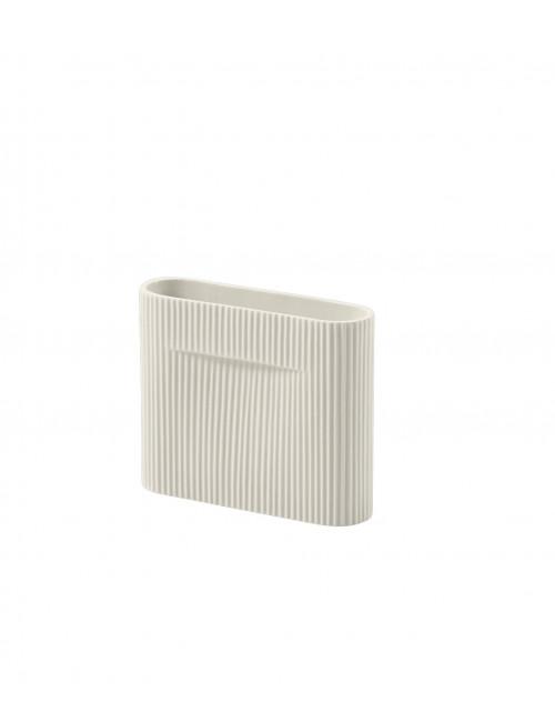 Ridge Vaas | 16,5 cm off-white