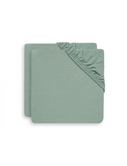 Hoeslaken Ledikant 60x120cm (set van 2) | ash green